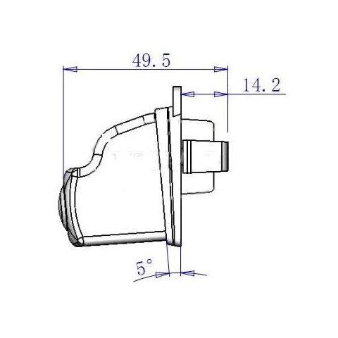 Автомобильная камера заднего вида для Mazda Превью 1