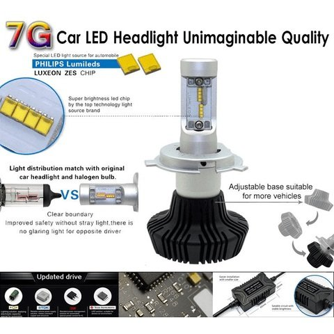Car LED Headlamp Kit UP-7HL-P13W-4000Lm (P13, 4000 lm, cold white) Preview 2