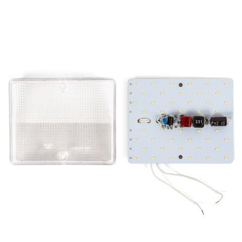 LED-світильник, 8 Вт, 220 В, 1000 лм, WW (природний білий), прямокутний Прев'ю 1