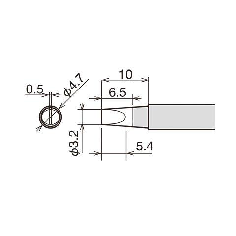 Soldering Iron Tip Goot RX-80HRT-3.2D Preview 1