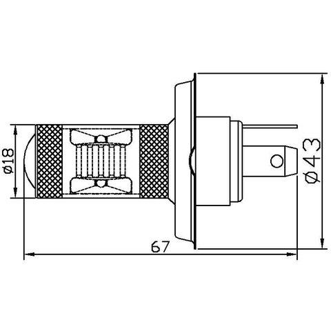 LED Fog Light UP-7G-H4WB-30W (white, 12-24 V) Preview 1
